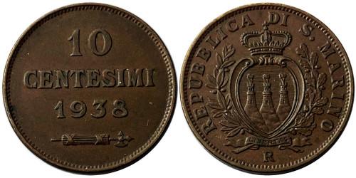 10 чентезимо 1938 Сан-Марино