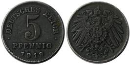 5 пфеннигов 1919 «D» Германская империя