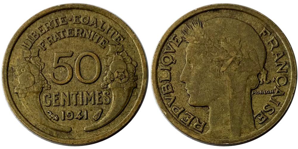 50 сантимов 1941 Франция