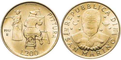200 лир 1997 Сан-Марино UNC