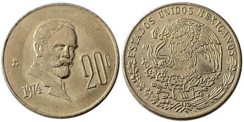 20 сентаво 1974 Мексика UNC — Медно-никелевый сплав