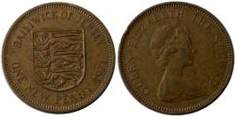 1 новый пенни 1971 остров Джерси