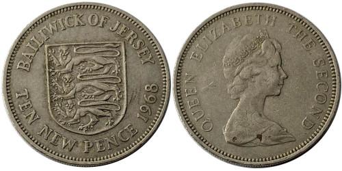 10 новых пенсов 1968 остров Джерси