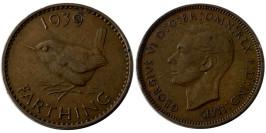 1 фартинг 1939 Великобритания №1