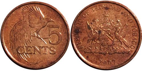5 центов 2007 Тринидад и Тобаго — Райская птица