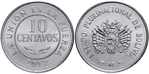 10 сентаво 2017 Боливия UNC