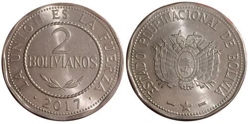 2 боливиано 2017 Боливия UNC