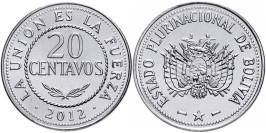 20 сентаво 2012 Боливия UNC