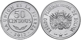 50 сентаво 2012 Боливия UNC
