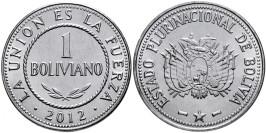 1 боливиано 2012 Боливия UNC