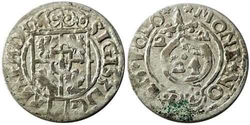 Полторак (1,5 гроша) 1622 Польша — Сигизмунд III — серебро