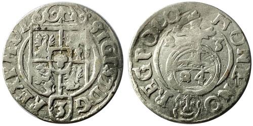 Полторак (1,5 гроша) 1623 Польша — Сигизмунд III — серебро