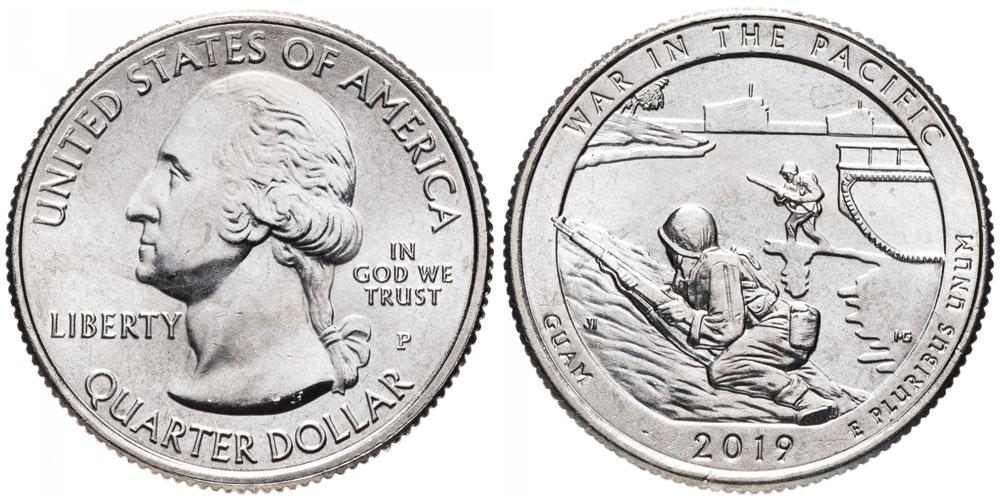 25 центов 2019 P США — Национальный исторический парк Войны в Тихом океане Гуам — Guam UNC