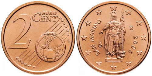 2 евроцента 2006 Сан-Марино UNC