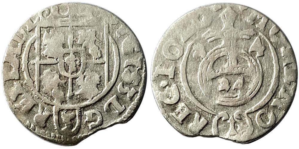 Полторак (1,5 гроша) 1624 Польша — Сигизмунд III — серебро №6