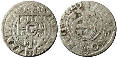 Полторак (1,5 гроша) 1623 Польша — Сигизмунд III — серебро №2