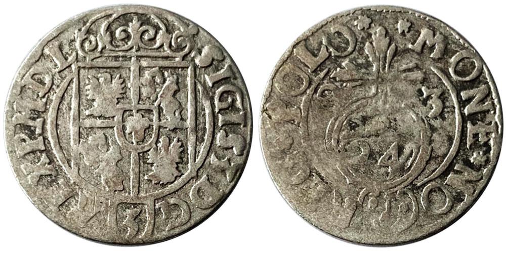 Полторак (1,5 гроша) 1623 Польша — Сигизмунд III — серебро №3
