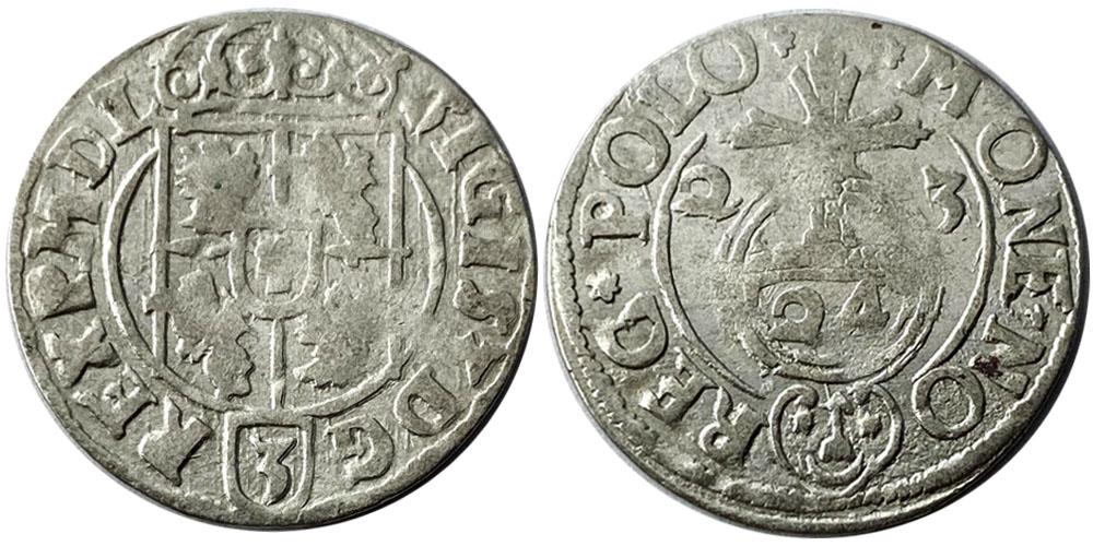 Полторак (1,5 гроша) 1623 Польша — Сигизмунд III — серебро №4