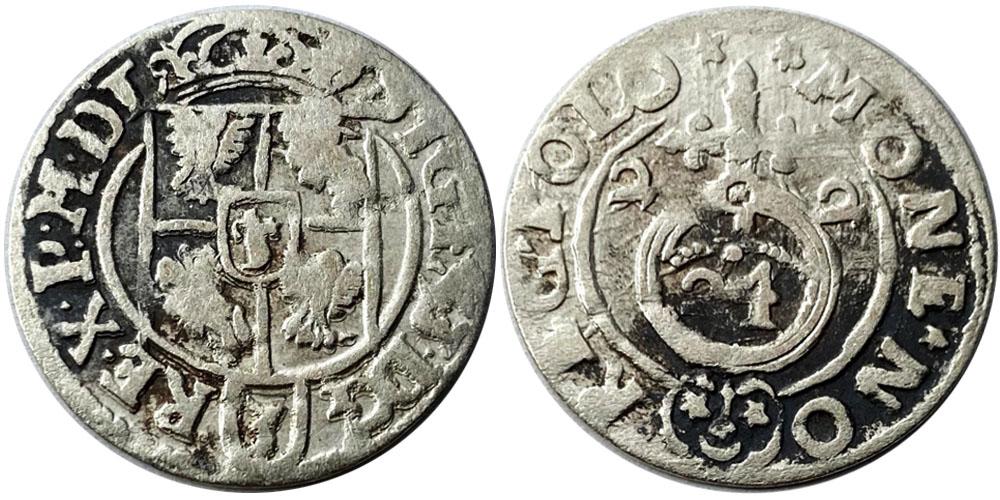 Полторак (1,5 гроша) 1622 Польша — Сигизмунд III — серебро №3
