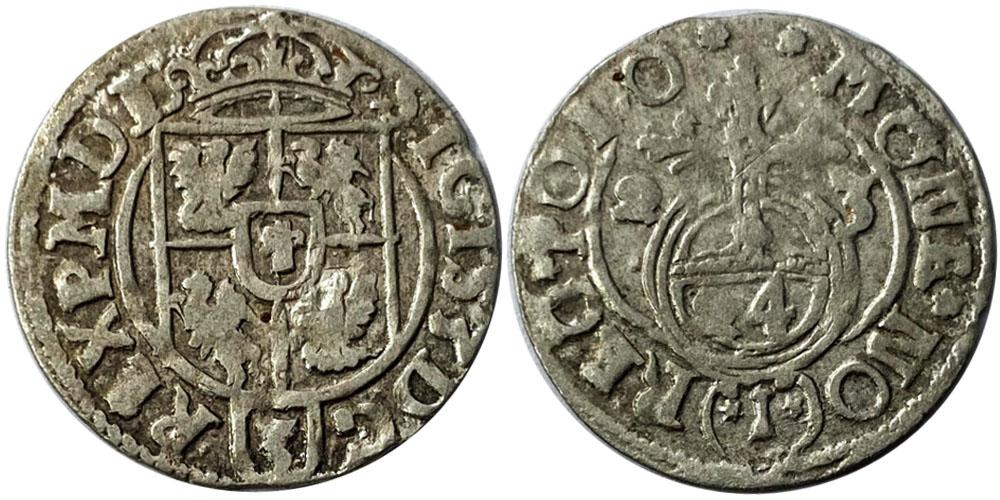 Полторак (1,5 гроша) 1623 Польша — Сигизмунд III — серебро №9