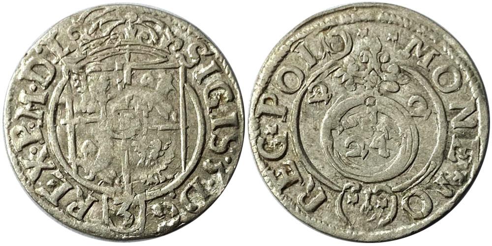 Полторак (1,5 гроша) 1622 Польша — Сигизмунд III — серебро №7