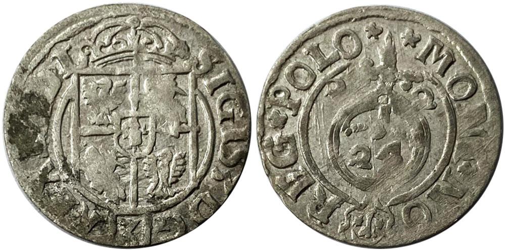 Полторак (1,5 гроша) 1622 Польша — Сигизмунд III — серебро №9