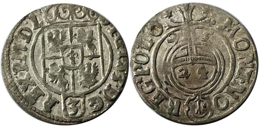 Полторак (1,5 гроша) 1625 Польша — Сигизмунд III — серебро №1