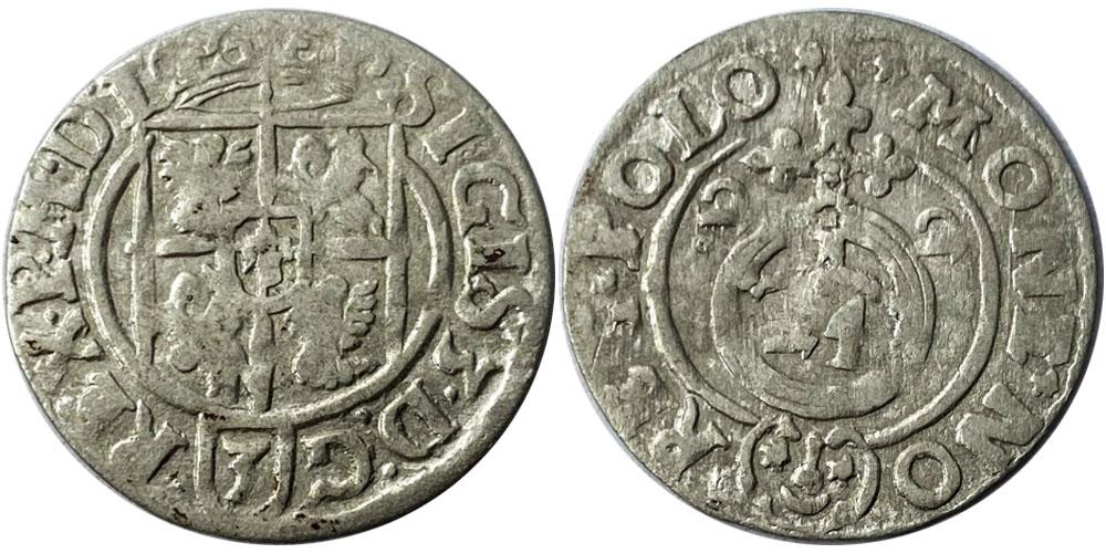 Полторак (1,5 гроша) 1622 Польша — Сигизмунд III — серебро №10