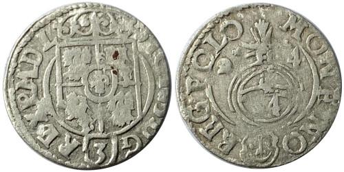 Полторак (1,5 гроша) 1624 Польша — Сигизмунд III — серебро №10