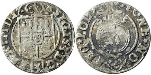 Полторак (1,5 гроша) 1625 Польша — Сигизмунд III — серебро №3