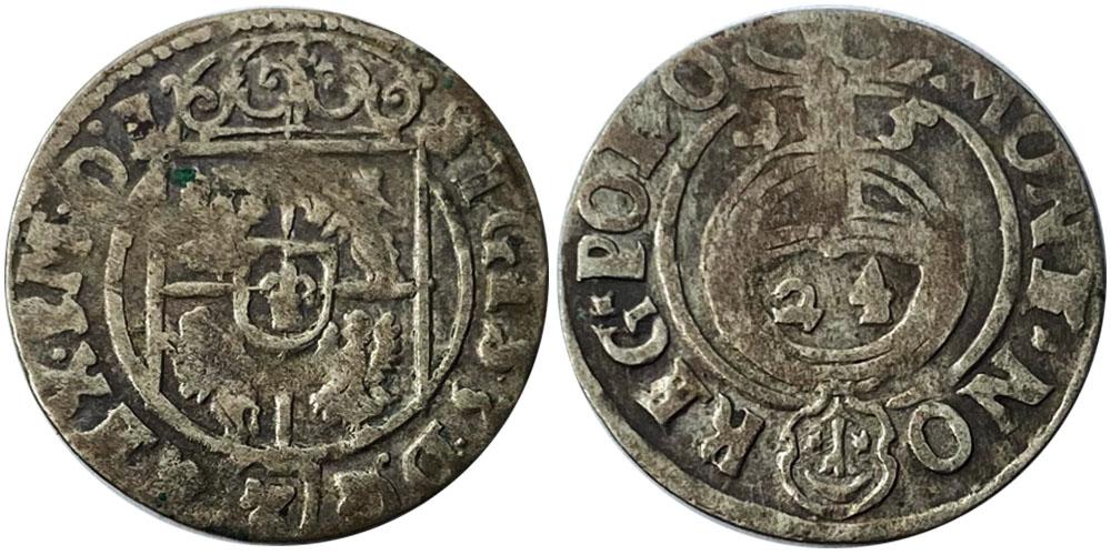 Полторак (1,5 гроша) 1625 Польша — Сигизмунд III — серебро №4