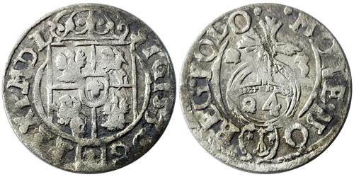 Полторак (1,5 гроша) 1623 Польша — Сигизмунд III — серебро №15