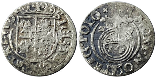 Полторак (1,5 гроша) 1627 Польша — Сигизмунд III — серебро №1