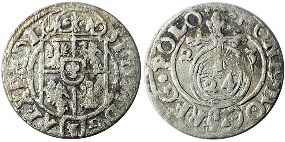 Полторак (1,5 гроша) 1623 Польша — Сигизмунд III — серебро №14