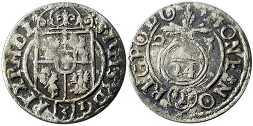 Полторак (1,5 гроша) 1623 Польша — Сигизмунд III — серебро №13
