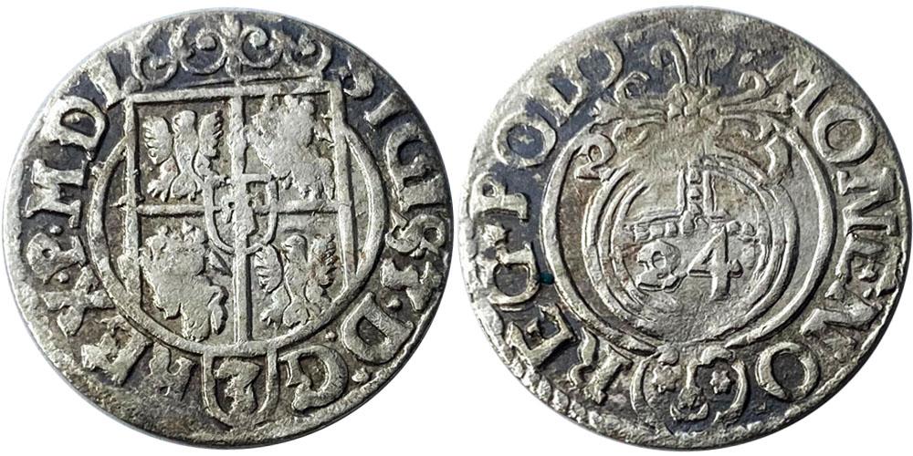 Полторак (1,5 гроша) 1621 Польша — Сигизмунд III — серебро №2