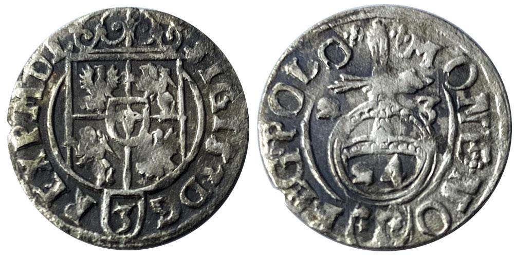 Полторак (1,5 гроша) 1623 Польша — Сигизмунд III — серебро №12