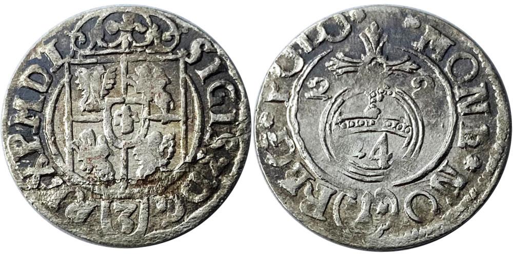 Полторак (1,5 гроша) 1622 Польша — Сигизмунд III — серебро №12