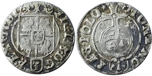 Полторак (1,5 гроша) 1625 Польша — Сигизмунд III — серебро №5