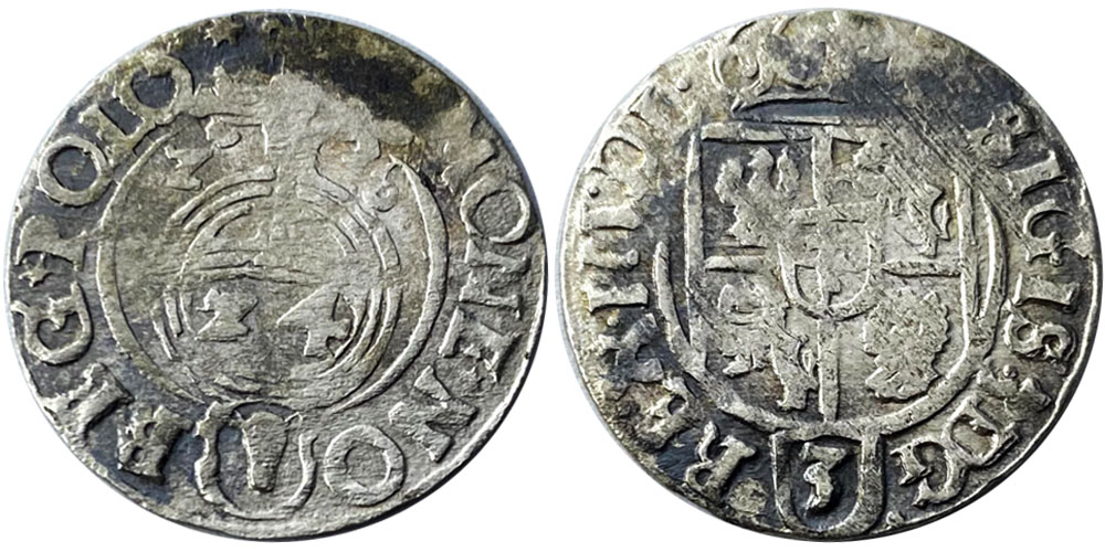 Полторак (1,5 гроша) 1626 Польша — Сигизмунд III — серебро №4