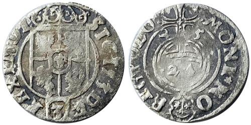 Полторак (1,5 гроша) 1625 Польша — Сигизмунд III — серебро №6
