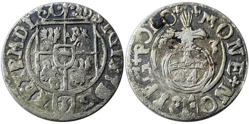 Полторак (1,5 гроша) 1623 Польша — Сигизмунд III — серебро №11