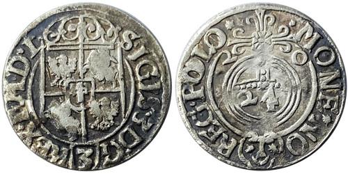 Полторак (1,5 гроша) 1620 Польша — Сигизмунд III — серебро №3