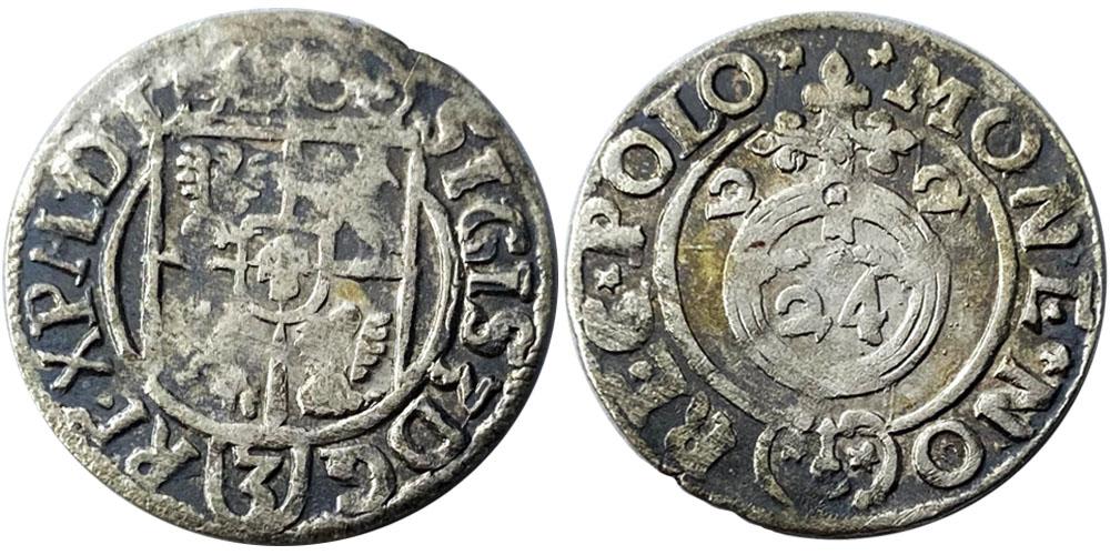 Полторак (1,5 гроша) 1622 Польша — Сигизмунд III — серебро №14