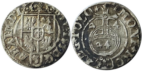 Полторак (1,5 гроша) 1624 Польша — Сигизмунд III — серебро №7