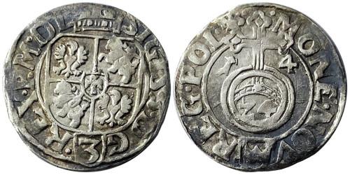 Полторак (1,5 гроша) 1614 Польша — Сигизмунд III — серебро
