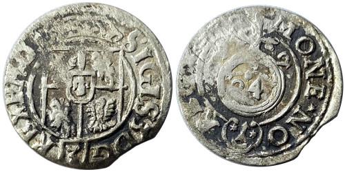 Полторак (1,5 гроша) 1622 Польша — Сигизмунд III — серебро №15
