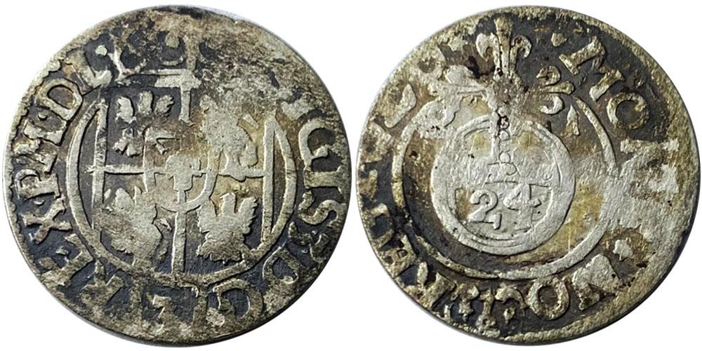 Полторак (1,5 гроша) 1621 Польша — Сигизмунд III — серебро №4