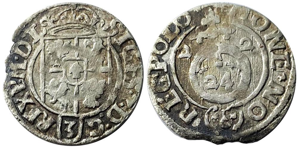 Полторак (1,5 гроша) 1622 Польша — Сигизмунд III — серебро №16