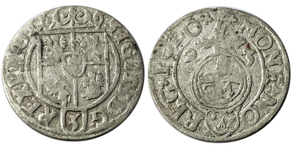 Полторак (1,5 гроша) 1623 Польша — Сигизмунд III — серебро №19